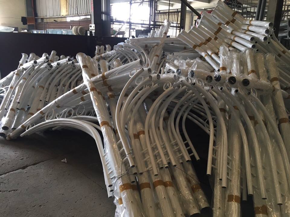 Producing street light poles in Litec® factory